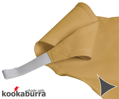 Kookaburra 3m Triangle Sand Party Sail Shade (Woven - Water Resistant)
