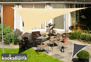 Kookaburra® 3m Triangle Sand Party Sail Shade (Woven - Water Resistant)