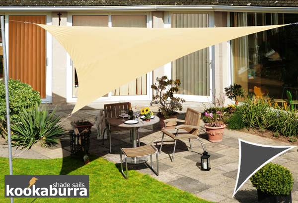 Kookaburra® 3.6m Triangle Sand Party Sail Shade (Woven - Water Resistant)
