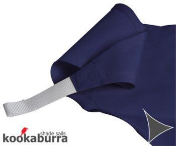 Kookaburra 3m Triangle Blue Party Sail Shade (Woven - Water Resistant)