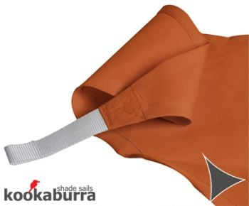 Kookaburra 5m Triangle Terracotta Party Sail Shade (Woven - Water Resistant)