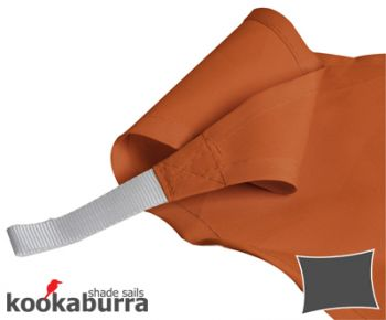 Kookaburra 4mx3m Rectangle Terracotta Party Sail Shade (Woven - Water Resistant)