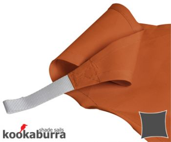 Kookaburra 3m Square Terracotta Party Sail Shade (Woven - Water Resistant)