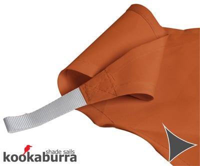 Kookaburra® 3m Triangle Terracotta Party Sail Shade (Woven - Water Resistant)