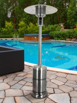 Firefly™ 12kW Freestanding Stainless Steel Gas Patio Heater