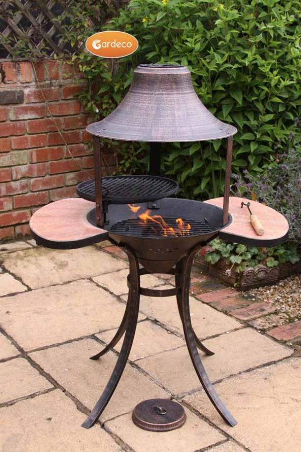 Corona Cast Iron BBQ Fire Bowl By Gardeco - H113cm x W84cm