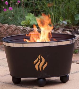 Orbita Steel Flames Fire Bowl By Gardeco - Dia 40cm