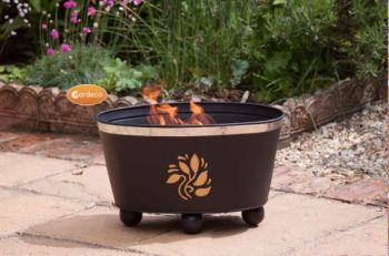 Orbita Steel Leaves Fire Bowl By Gardeco - Dia 40cm