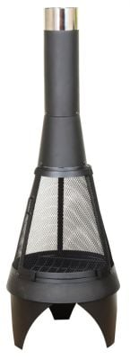 La Hacienda Colorado Steel Mesh Black Chimenea - Extra Large - H160cm x D60cm