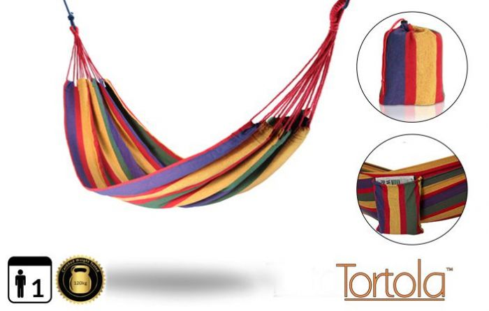 Tortola Rainbow Outdoor Garden Single Hammock