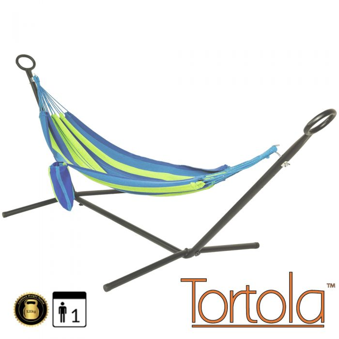 Marina Outdoor Garden Hammock With Hammock Stand and Carry Bag - by Tortola®