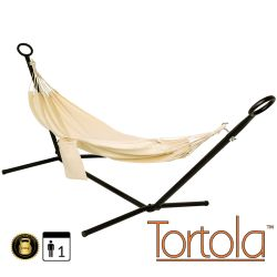 Nautical Outdoor Garden Hammock With Hammock Stand with Carry Bag - by Tortola®