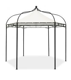 Harlington Deluxe Steel Frame Gazebo with Roof Canopy in Ivory