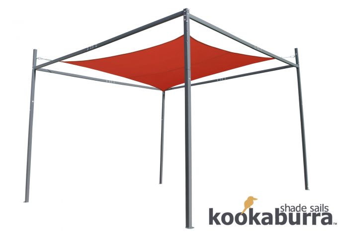 Kookaburra® Shade Sail Frame - 3.5m x 3.5m x 2.7m Height
