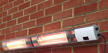 Firefly� Dual 3kW Electric Infrared Halogen Bulb Patio Heater with Weatherproof IP44 and Remote Control