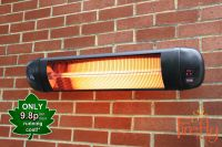 Firefly�  2kW Wall Mounted Adjustable Quartz Bulb Electric Infrared Heater with Remote Control
