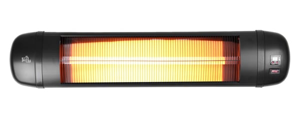 2kW Wall Mounted Adjustable Quartz Bulb Electric Infrared Heater with Remote Control by Firefly™