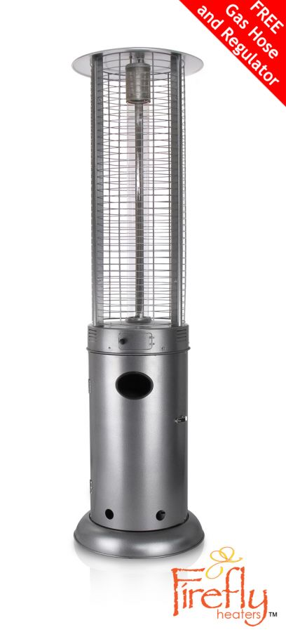 Firefly™ Samos 15KW Gas Patio Heater in Silver
