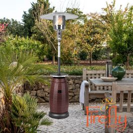 12KW Ios Freestanding Gas Heater with Rattan Base by Firefly™