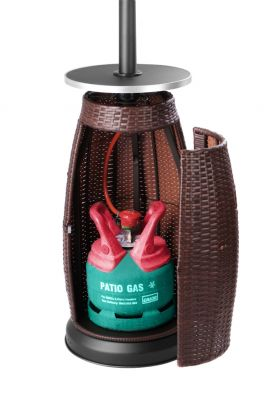 Firefly™ Ios Freestanding Gas Heater with Rattan Base 13KW