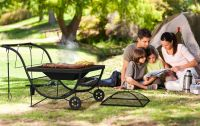 Phoenix Portable Fire Pit & BBQ with Log Storage