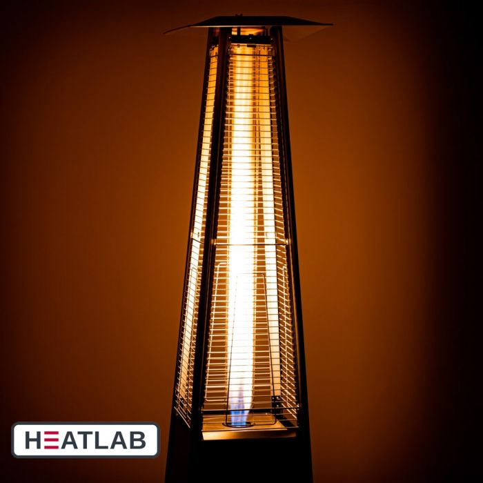 13KW Paros Free Standing Gas Patio Heater in Black by Heatlab®