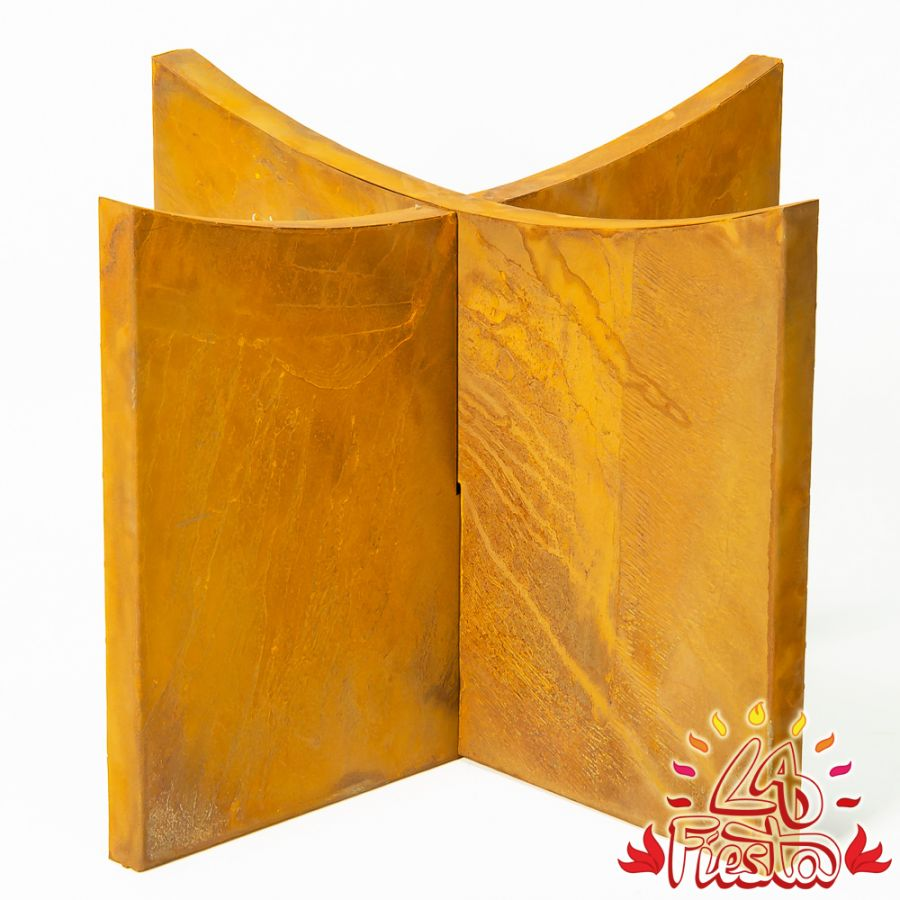 Rust Finish Steel Base for 100cm Fire Bowl - by La Fiesta