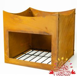Rust Finish Steel Wood Store Stand for 75cm Fire Bowl - by La Fiesta