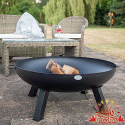 100cm Carbon Steel Fire Bowl in Black - by La Fiesta