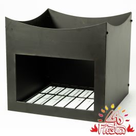 Black Steel Wood Store Stand for 80cm Fire Bowl - by La Fiesta