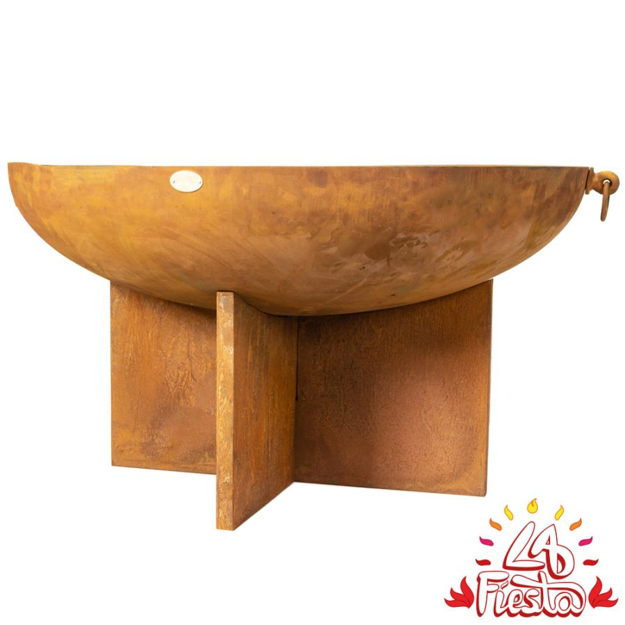 100cm Fire Bowl with Cross Base - by La Fiesta