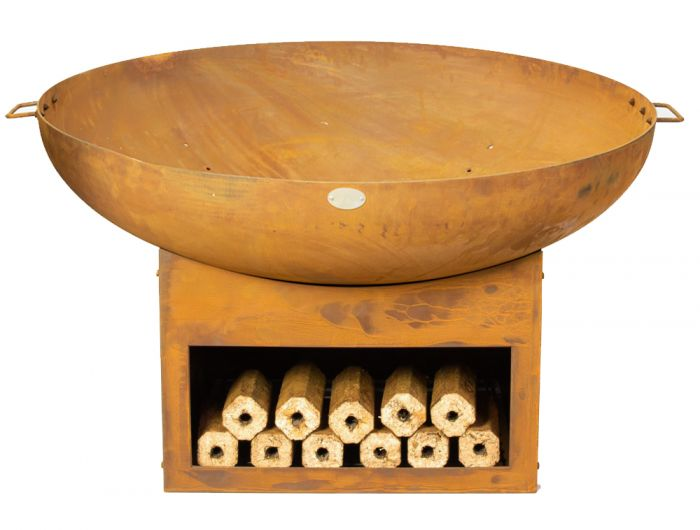 80cm Fire Bowl with Wood Store - by La Fiesta