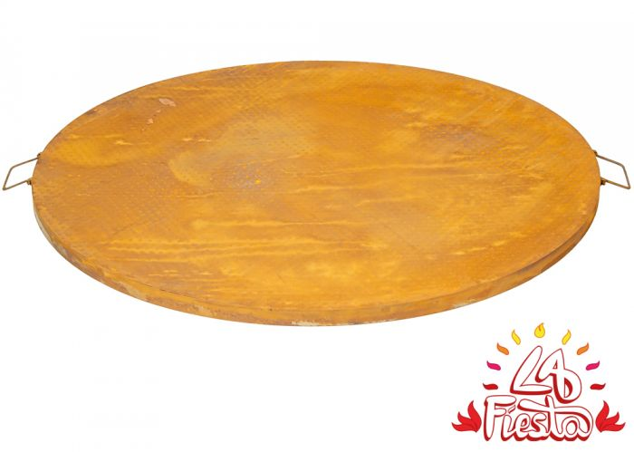 Rust Finish Steel Table Top for 100cm Fire Bowl - by La Fiesta