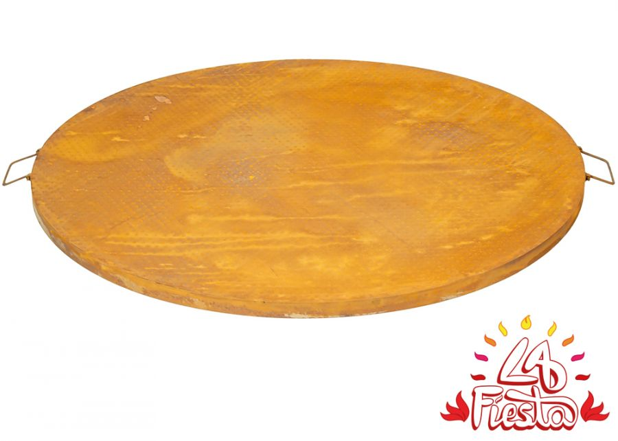 Rust Finish Steel Table Top for 80cm Fire Bowl - by La Fiesta