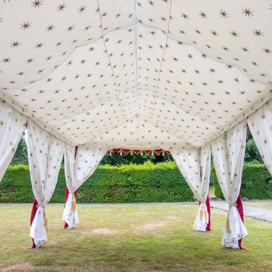 Lining and Pole Covers for 4x8m Indian Marquee