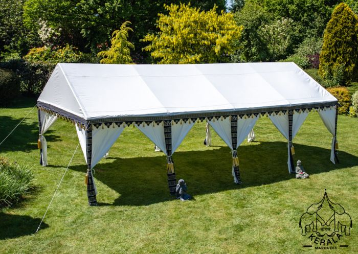 4x8m Luxury Indian-Style Waterproof Polycotton Marquee - by Kerala
