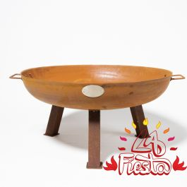 75cm Cast Iron Rust Finish Fire Bowl - by La Fiesta