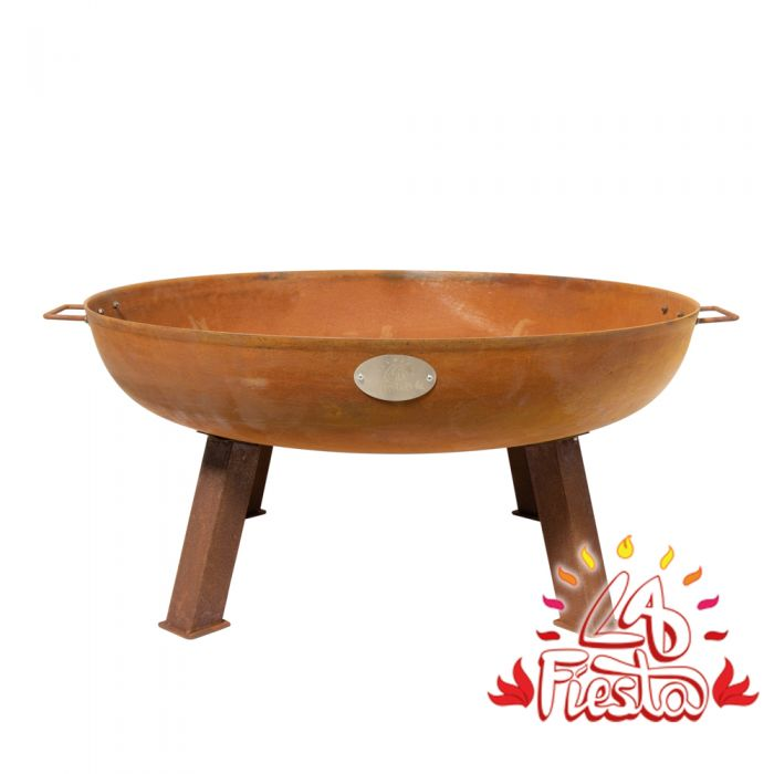85cm Cast Iron Rust Finish Fire Bowl - by La Fiesta