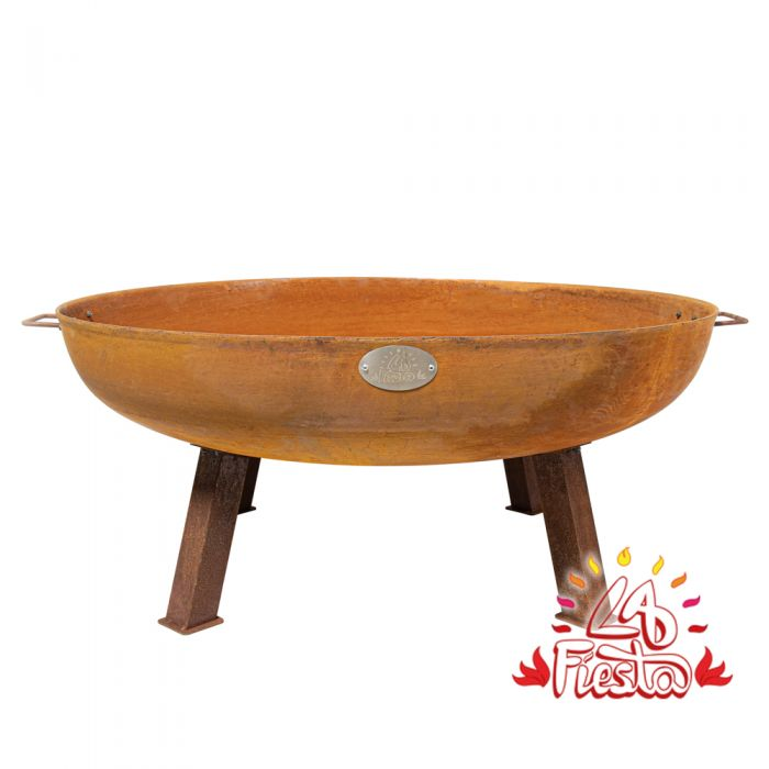 100cm Cast Iron Rust Finish Fire Bowl - by La Fiesta