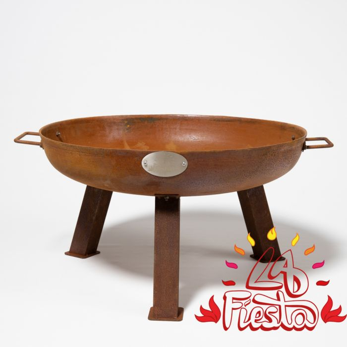 61cm Cast Iron Rust Finish Fire Bowl - by La Fiesta