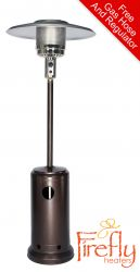 12kW Freestanding Powder Coated Steel Gas Patio Heater by Firefly™