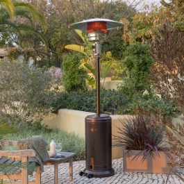 12kW Freestanding Powder Coated Steel Gas Patio Heater in Bronze by Heatlab®