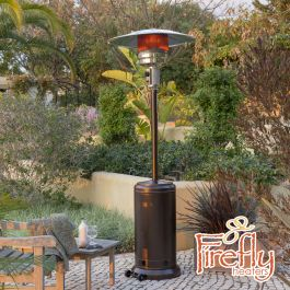 12kW Freestanding Powder Coated Steel Gas Patio Heater in Bronze by Firefly™
