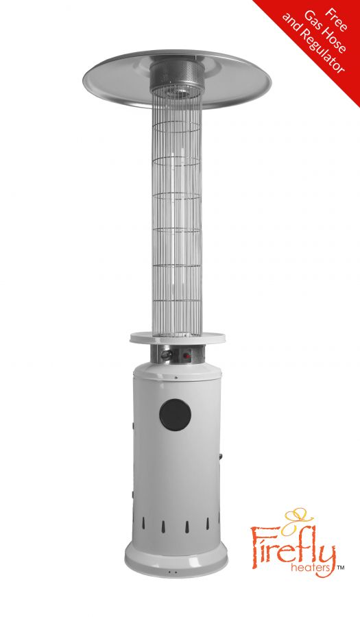 12kW Flame Column Gas Patio Heater in White - by Firefly™