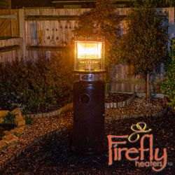 13kW Bullet Gas Patio Heater in Black by Firefly™