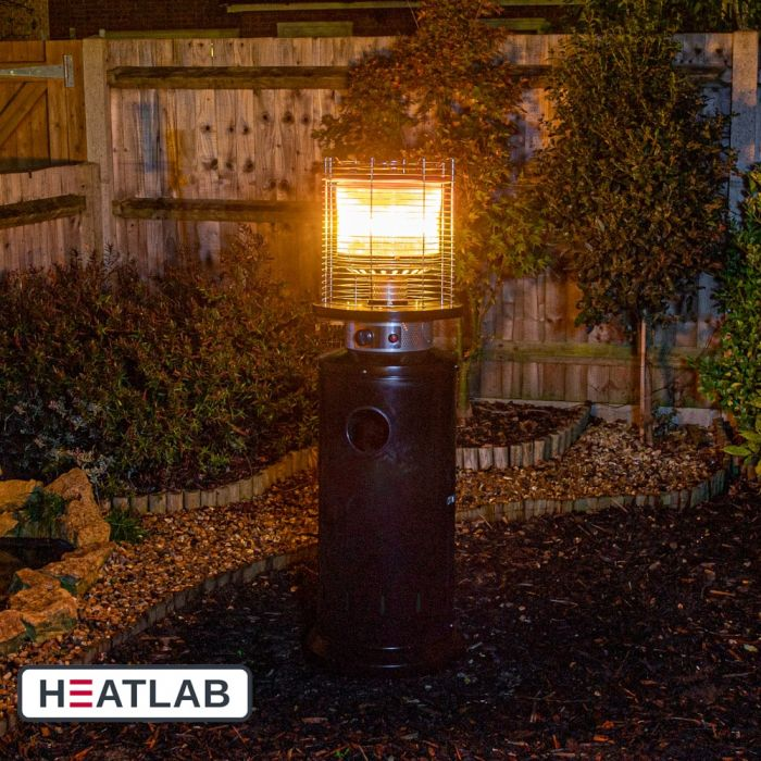 13kW Bullet Gas Patio Heater in Black by Heatlab®