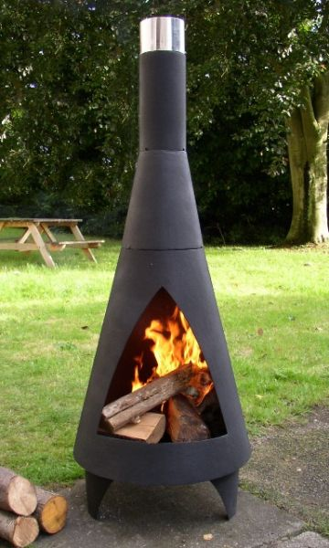 Colorado Steel Chimenea - Extra Large - H160cm x D60cm