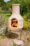 Spanish Scroll BBQ Chimenea - H95CM x D42cm