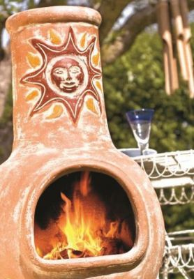 Sunset Clay Chiminea - Medium and Large Sizes