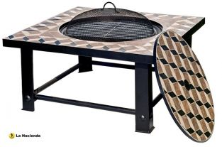 Palermo Mosaic Firebowl Grill And Table